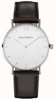 Paul Hewitt 中性水手黑色皮革表带 PH-SA-S-SM-W-2M