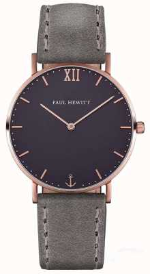 Paul Hewitt 中性水手灰色皮革表带 PH-SA-R-ST-B-13M