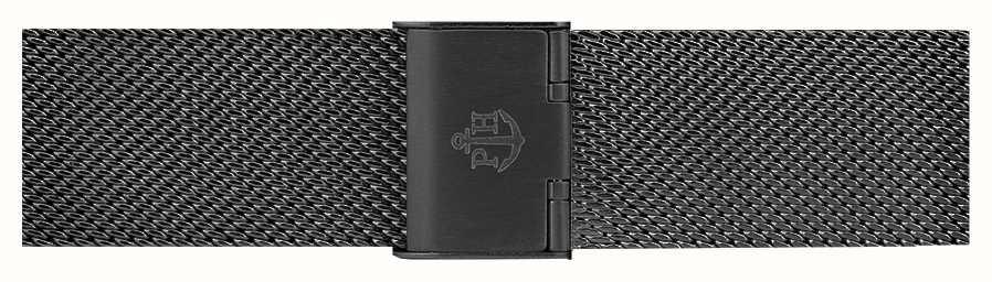 Paul Hewitt 黑色不锈钢网状手链186mm PH-M1-G-5M