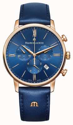 Maurice Lacroix Eliros计时蓝色和金色手表 EL1098-PVP01-411-1