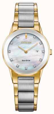 Citizen 女士公理钻石日期两色 GA1054-50D