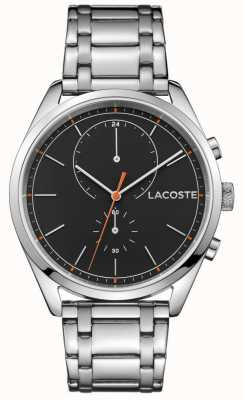 Lacoste 男士圣迭戈不锈钢黑色表盘 2010918