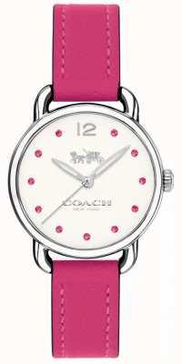 Coach 女人delancey手表粉红色皮革表带 14502906