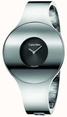 Calvin Klein 女人银钢无缝手表小 K8C2S111
