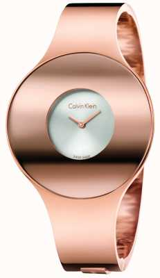 Calvin Klein 女人玫瑰金色调无缝手表小巧 K8C2S616