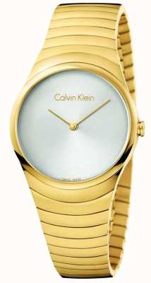 Calvin Klein 女人金色不锈钢旋转手表 K8A23546