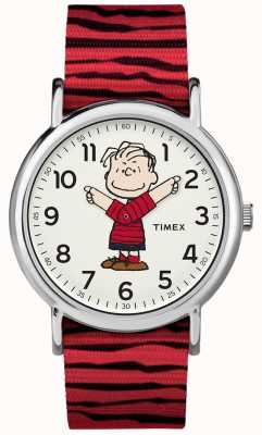 Timex 周末花生linus红色表带 TW2R412006B