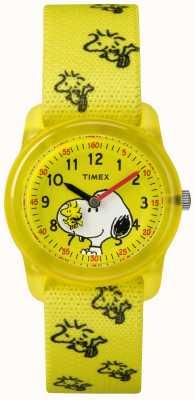 Timex 青年模拟黄色表带woodstock史努比 TW2R41500JE