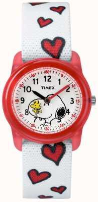 Timex 青春模拟白色表带史努比的心 TW2R41600JE