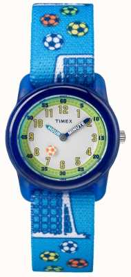 Timex 青年模拟蓝色表带足球 TW7C165004E
