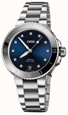 Oris 女式水钻镶钻钢质手表 01 733 7731 4195-07 8 18 05P