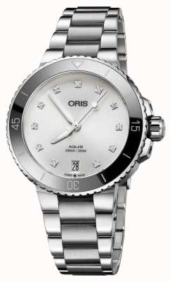 Oris 女式水钻镶钻钢质手表 01 733 7731 4191-07 8 18 05P