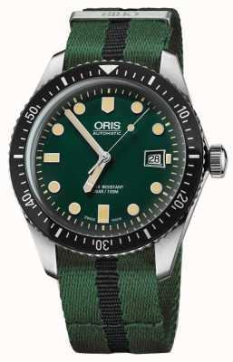 Oris 男士潜水员六十五个绿色北约表带 01 733 7720 4057-07 5 21 25FC