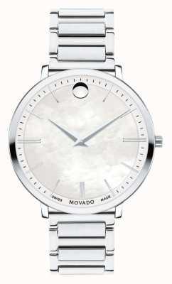 Movado 女士超薄不锈钢手表 0607170