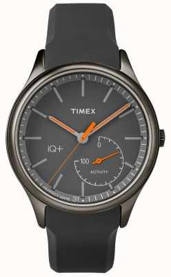 Timex 男士iq plus移动灰色硅胶表带 TW2P95000