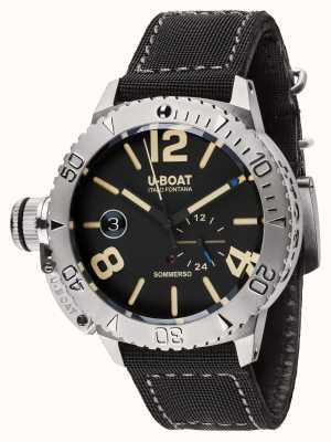 U-Boat Sommerso 46 bk自动黑色橡胶表带 9007