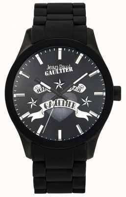 Jean Paul Gaultier Enfants terribles黑色橡胶表链黑色表盘 JP8501125