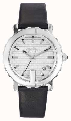 Jean Paul Gaultier 女士点G黑色真皮表带银色表盘 JP8500515