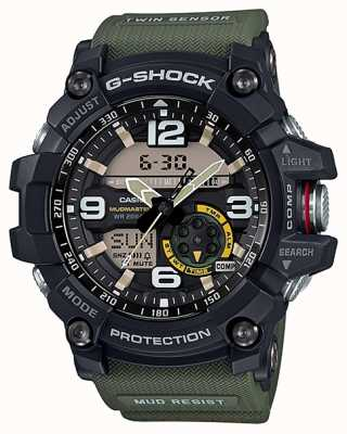 Casio G-shock mudmaster双感应指南针绿色表带 GG-1000-1A3ER