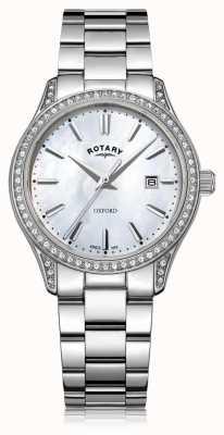Rotary 女士牛津白色不锈钢石英表 LB05092/41