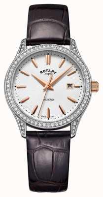 Rotary 女士牛津皮表带不锈钢石英表 LS05092/02