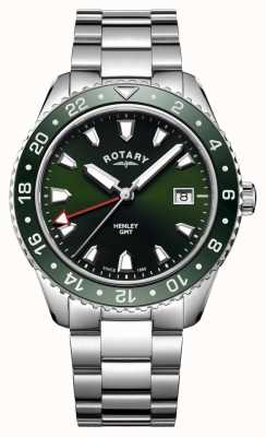 Rotary 男士亨利绿色不锈钢石英表 GB05108/24