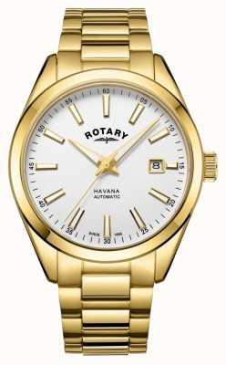 Rotary 男士哈瓦那银白色不锈钢手表 GB05081/02