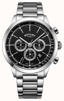 Rotary 男士剑桥不锈钢计时码表 GB05253/04