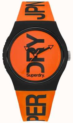 Superdry 橙色表盘橙色硅胶表带 SYG189OB