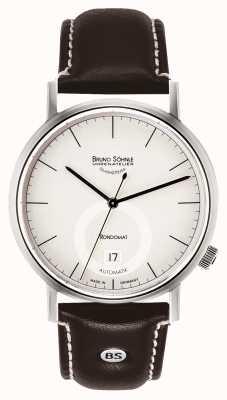Bruno Sohnle Rondomatt ii 41毫米自动不锈钢白色表盘 17-12098-241