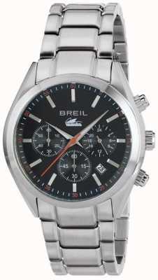 Breil 曼塔市不锈钢计时码表黑色表盘手镯 TW1606