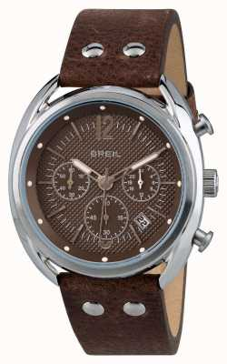 Breil Beaubourg不锈钢计时码表磨砂棕色表盘 TW1663