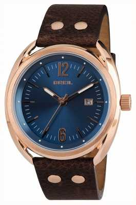 Breil Beaubourg不锈钢ipr蓝色表盘棕色表带 TW1673