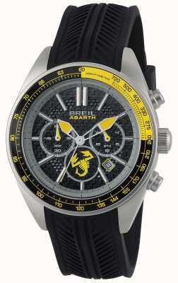Breil Abarth不锈钢ip黑色和黄色计时码表 TW1691