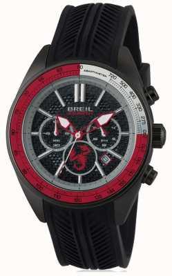 Breil Abarth不锈钢ip黑色计时码表黑色和红色直径 TW1693