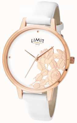 Limit 女式平亮闪耀白色花卉表盘 6290.73