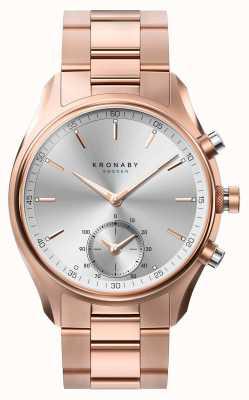 Kronaby 43毫米sekel蓝牙玫瑰金金属手镯smartwatch A1000-2745