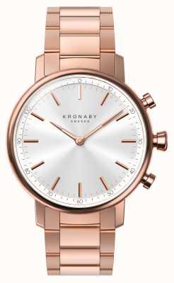 Kronaby 38毫米克拉蓝牙玫瑰金手链银a1000-2446 S2446/1