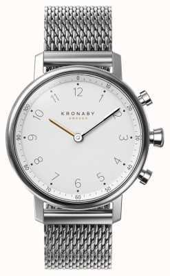 Kronaby 38毫米诺德蓝牙钢丝网手镯smartwatch A1000-0793