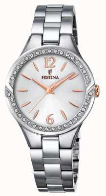 Festina 女士不锈钢表链银色表盘 F20246/1