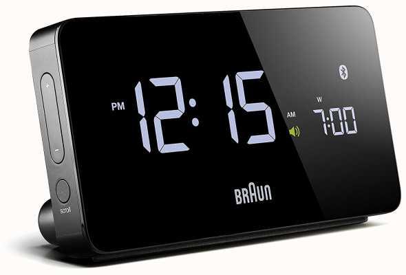 Braun 数字蓝牙闹钟黑色 BNC020BK