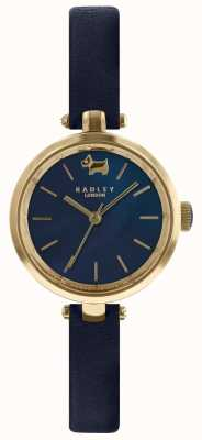 Radley 女士28毫米表壳深蓝色表盘墨水皮表带 RY2656