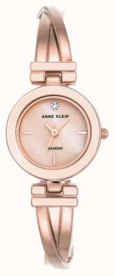 Anne Klein 女士leah玫瑰金色调手链白色表盘 AK/N2622WTRG