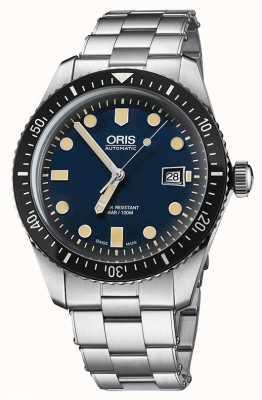 Oris 潜水员六十五个自动不锈钢蓝色表盘 01 733 7720 4055-07 8 21 18