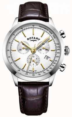 Rotary 男士剑桥计时皮革手表 GS05253/02