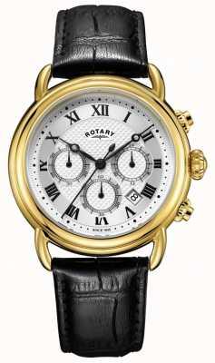Rotary 男士坎特伯雷计时皮革手表 GS05333/21