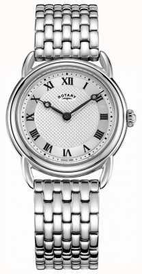 Rotary 女士坎特伯雷不锈钢表链 LB05335/21