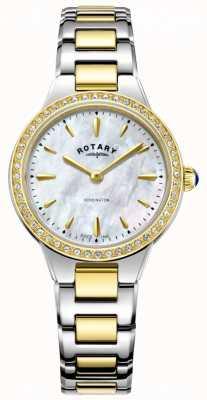 Rotary 女式金色双音电池供电石英模拟 LB05276/41