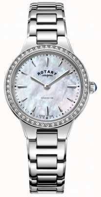 Rotary 女士肯辛顿珍珠母贝镶嵌表圈 LB05275/07