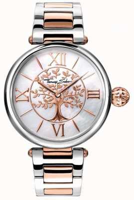 Thomas Sabo 女性魅力和灵魂业力手表玫瑰金和银 WA0315-272-213-38